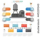 industry info graphic design on ... | Shutterstock .eps vector #445239343