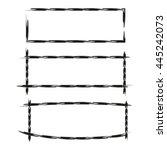 black grunge frames  rectangle... | Shutterstock .eps vector #445242073