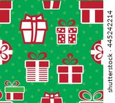 vector colorful christmas gift... | Shutterstock .eps vector #445242214