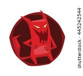 vector image of a round dark... | Shutterstock .eps vector #445242544