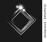 white  frame on a black... | Shutterstock .eps vector #445249210