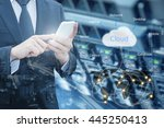 double exposure of professional ... | Shutterstock . vector #445250413