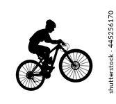 female mountain bike rider....
