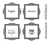 exclusive decor elements or... | Shutterstock . vector #445256614