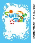 the summer poster | Shutterstock .eps vector #445260100