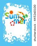 the summer poster | Shutterstock .eps vector #445260100