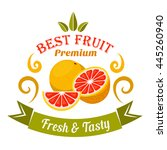 wholesome ripe grapefruit... | Shutterstock .eps vector #445260940