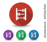 white abacus icon in different... | Shutterstock .eps vector #445261564