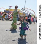 Small photo of NEW YORK CITY - JUNE 18 2016: The 34th annual Coney Island Mermaid Parade, considered the largest cultural & artistic event in the United States, filled Surf Ave.