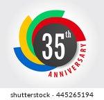 35th anniversary celebration... | Shutterstock .eps vector #445265194