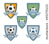 set football logo for the team... | Shutterstock .eps vector #445270123
