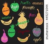 vector fruit logo. fruit and...   Shutterstock .eps vector #445271044
