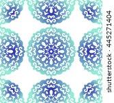 snowflake. christmas seamless... | Shutterstock .eps vector #445271404