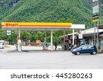andalsnes  norway   circa june  ... | Shutterstock . vector #445280263