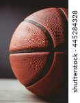 close up of basketball on black ... | Shutterstock . vector #445284328