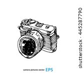 camera photography studio... | Shutterstock .eps vector #445287790