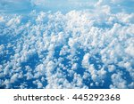 sky aerial view from plane  sky ... | Shutterstock . vector #445292368