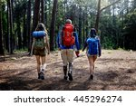 hiking hiker destination... | Shutterstock . vector #445296274