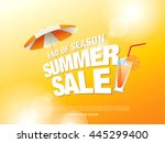Summer Sale Banner. Vector...