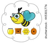 honey bees. vector illustration | Shutterstock .eps vector #445301776