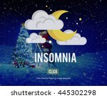insomnia hangover bad dreams... | Shutterstock . vector #445302298