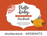 baby shower girl and boy... | Shutterstock . vector #445304473