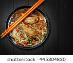 Noodle With Chicken In Black...