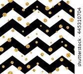 golden polka dot seamless...   Shutterstock . vector #445310704