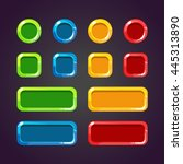 colorful game buttons. set of... | Shutterstock .eps vector #445313890