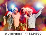 cheerful young people... | Shutterstock . vector #445324930