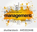 management word cloud collage ... | Shutterstock .eps vector #445332448