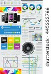 elements of infographics with... | Shutterstock .eps vector #445332766