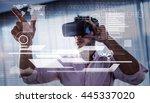 interface against businessman... | Shutterstock . vector #445337020