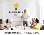 opening soon launch welcome... | Shutterstock . vector #445337593