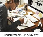 artist creative designer... | Shutterstock . vector #445337599