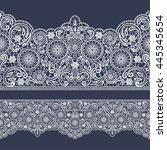 vector lace ribbon. vector... | Shutterstock .eps vector #445345654