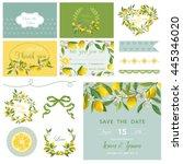 scrapbook design elements.... | Shutterstock .eps vector #445346020