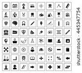 education icon set. eps 10. | Shutterstock .eps vector #445347754