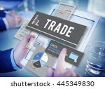 trade commerce deal economy... | Shutterstock . vector #445349830