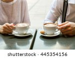 a man and woman  with a... | Shutterstock . vector #445354156
