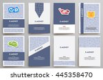 corporate identity vector... | Shutterstock .eps vector #445358470