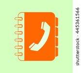 phone book flat icon. flat...