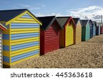 Multi Coloured Beach Huts On...