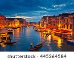 view on grand canal from rialto ... | Shutterstock . vector #445364584