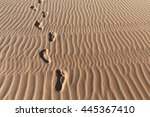 Footprints On A Sand Dunes...