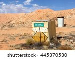 direction sign to the geology... | Shutterstock . vector #445370530