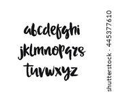 hand drawn vector alphabet.... | Shutterstock .eps vector #445377610