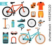 bike and cycling accessories... | Shutterstock .eps vector #445393120