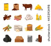 various commodities flat icons...