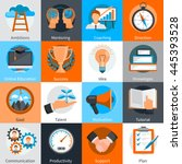 flat design concept icons for... | Shutterstock .eps vector #445393528